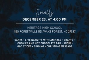 Christmas Service At Heritage