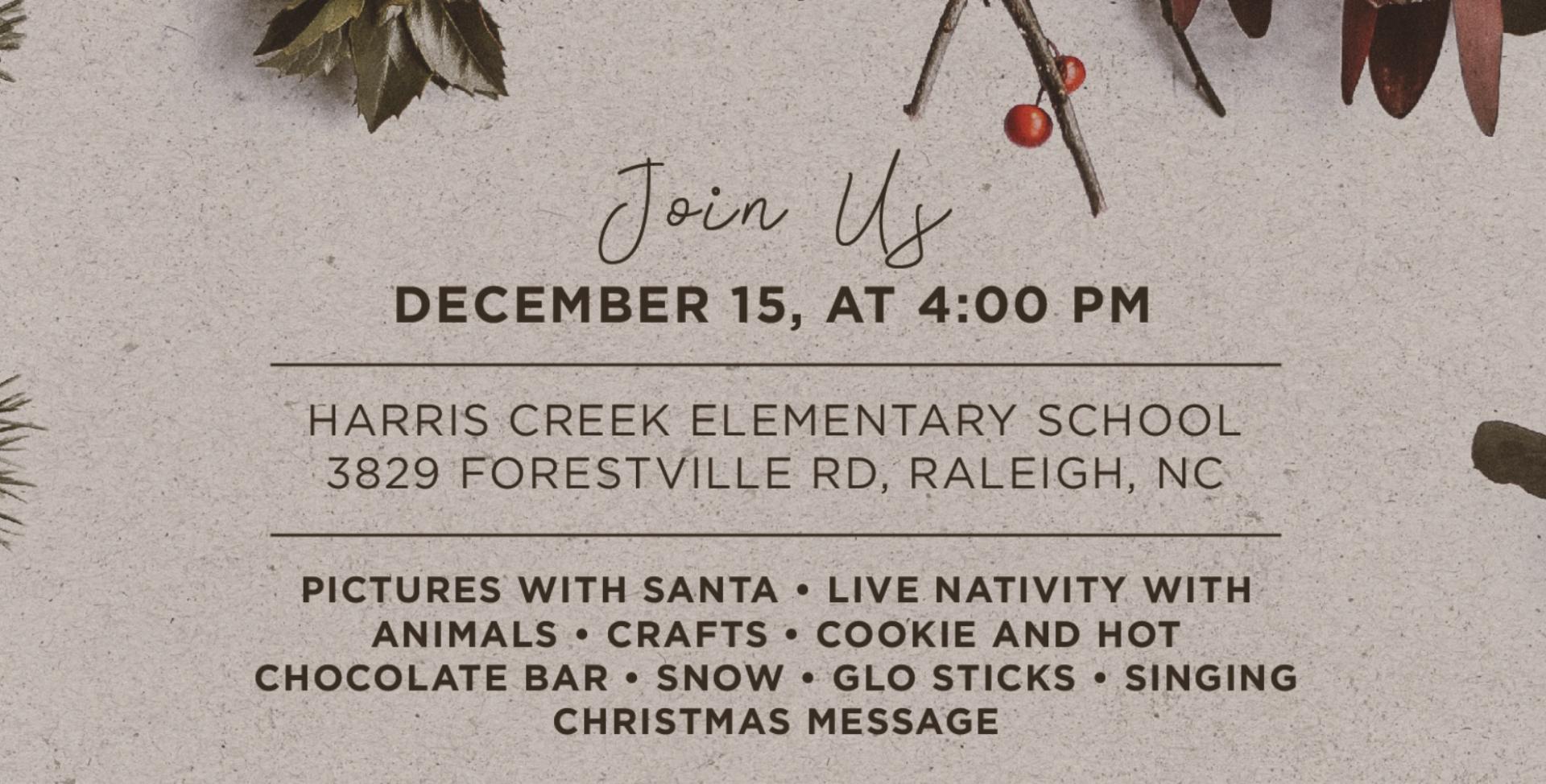 Christmas at Harris Creek